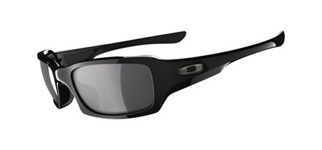 OAKLEY Fives Squared Pol Blk w/ Blk Ird Pol