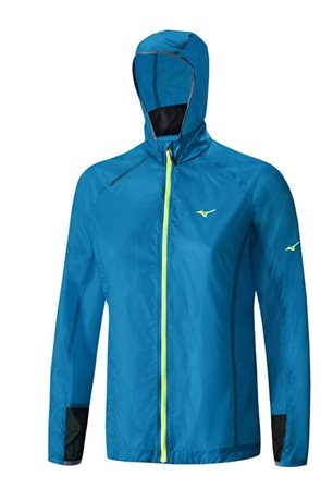 Mizuno Lightweight Hoody Jacket Blue J2GC620326
