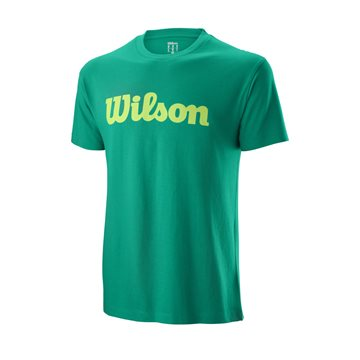 Produkt Wilson M Script Cotton Tee Deep Green/Sharp Green