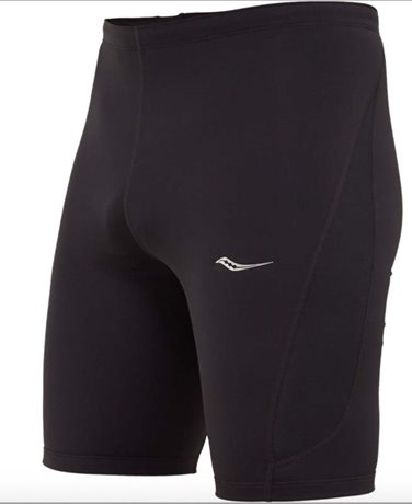 SAUCONY Inferno half tight/black and black men´s knitted pants