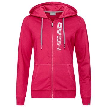 Produkt HEAD Club Greta Hoodie Full Zip Women Magenta/White
