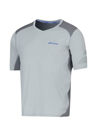 Babolat V-Neck Tee Men Performance Grey