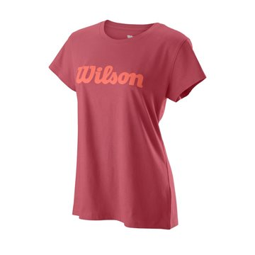 Produkt Wilson W Script Cotton Tee Holly Berry/Peach Echo