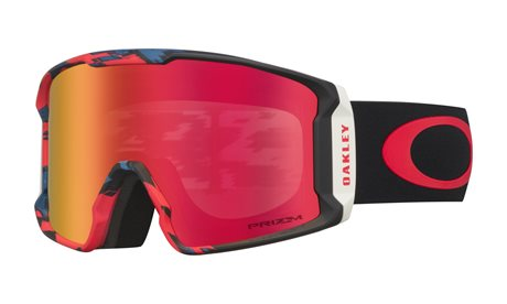 OAKLEY Line Miner Sammy Carlson Signature Razor Camo Red Blue w/PRIZM Snow Torch Iridium 19/20