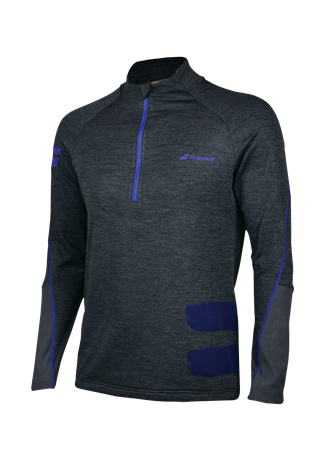 Babolat Performance Men Sweatshirt 1/2 Zip Grey