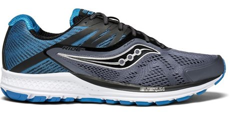 Saucony Ride 10 Grey/Black/Blue