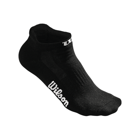 Wilson W No Show Sock 3 Pack Black