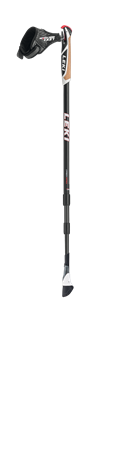Leki Smart Traveller Carbon anthracite/white/neon red 90-130 cm 6402606 2019