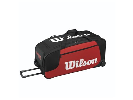 Wilson Wheeled Travel Duffel Black/Red