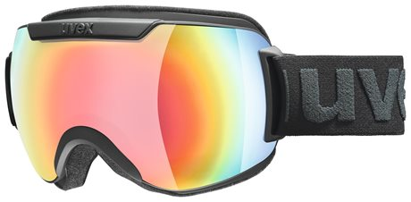 UVEX DOWNHILL 2000 FM black mat dl/mir rainbow rose S5501152230