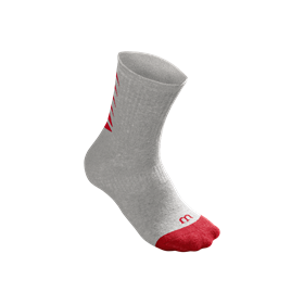 WRA530709_SS18_ACC_Y_Core_Crew_Sock_Y_Grey_Wilson_Red